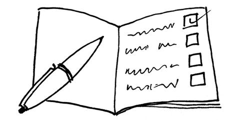 Zeichnung in schwarz-weiß: Was sind die wichtigsten Informationen für Lehrbeauftragte?