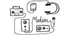 Zeichnung in schwarz-weiß: Welchen Service bietet das ZfS als Medienstützpunkt?