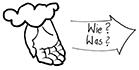 Zeichnung in schwarz-weiß: Wie öffne ich meine Veranstaltung für Studierende aller Fächer?
