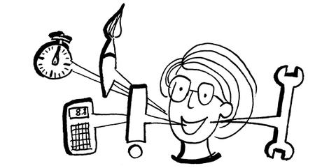 Zeichnung in schwarz-weiß: Sonderprogramme