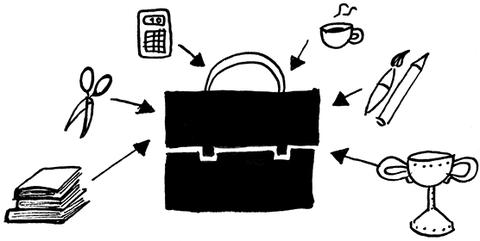 Zeichnung in schwarz-weiß: Welche Veranstaltungen kann ich aktuell belegen?