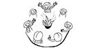Schwarz-weiss-Zeichnung: Umgang mit der Gruppe