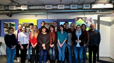 Teilnehmer_innen und Fachjury des Kurses Audiovisuelle Wissenschaftskommunikation