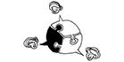 Zeichnung in schwarz-weiß: Welche Kooperationspartner hat das ZfS?