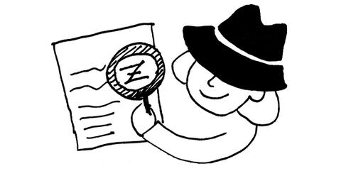 Zeichnung in schwarz-weiß: Was finde ich im ZfS?